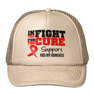 AIDS HIV In The Fight For The Cure Trucker Hat