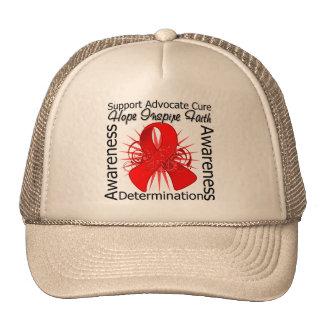AIDS HIV Inspirations Spiral Ribbon Hats