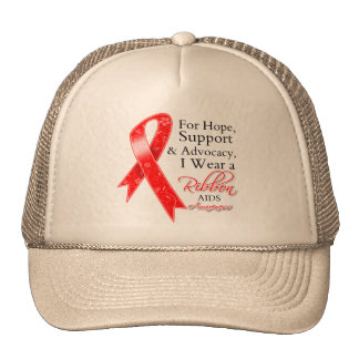 AIDS HIV Support Hope Awareness Hats