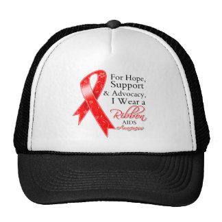 AIDS HIV Support Hope Awareness Cap