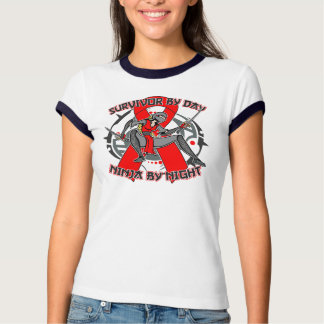 AIDS HIV Survivor By Day Ninja By Night Tees