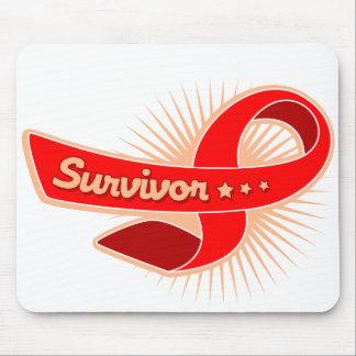 AIDS HIV Survivor Ribbon Mouse Pads