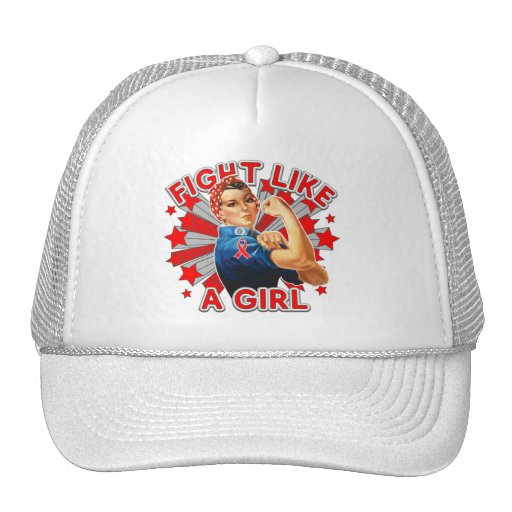 AIDS HIV Vintage Rosie Fight Like A Girl Hats