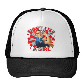 AIDS HIV Vintage Rosie Fight Like A Girl Trucker Hats