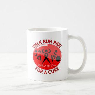 AIDS HIV Walk Run Ride For A Cure Basic White Mug