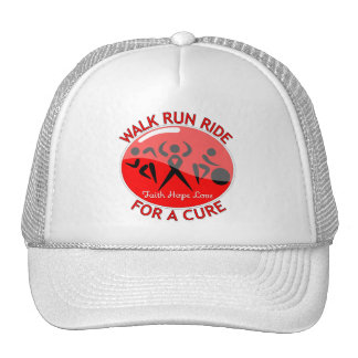 AIDS HIV Walk Run Ride For A Cure Hat