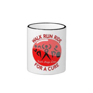 AIDS HIV Walk Run Ride For A Cure Ringer Mug