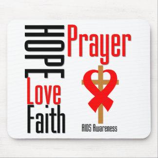 AIDS Hope Love Faith Prayer Cross Mouse Pad