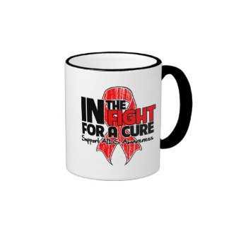AIDS In The Fight For a Cure Ringer Mug