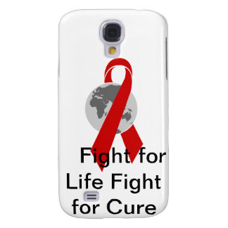 Aids Logo Fight for Life Fight for Cure Galaxy S4 Case