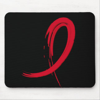 AIDS Red Ribbon A4 Mouse Pad