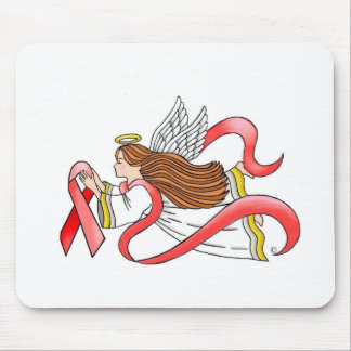 AIDS Red Ribbon Awareness Angel Mouse Pads