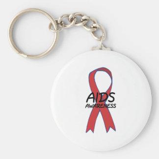 Aids Ribbon Key Chain