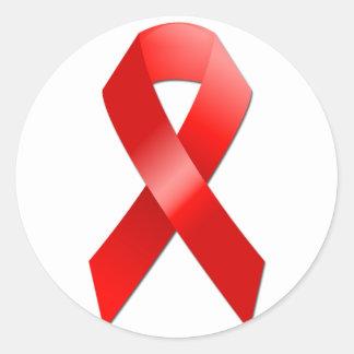 AIDS Ribbon Round Sticker