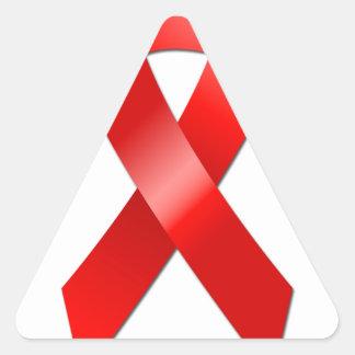 AIDS Ribbon Triangle Sticker