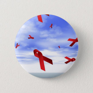 Aids Ribbons Floating in the Sky 6 Cm Round Badge