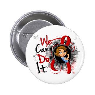 AIDS Rosie Cartoon WCDI Pinback Button