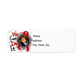 AIDS Rosie Cartoon WCDI Return Address Label