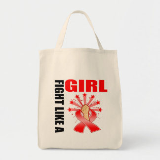 AIDS Victory Fight Like A Girl Tote Bag