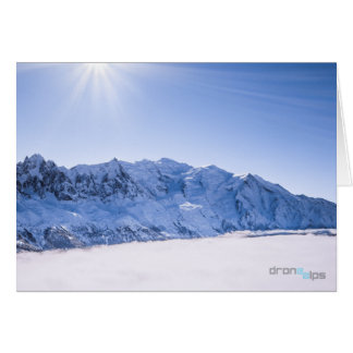 Aiguille du Midi & Mont Blanc - Above the Clouds Card