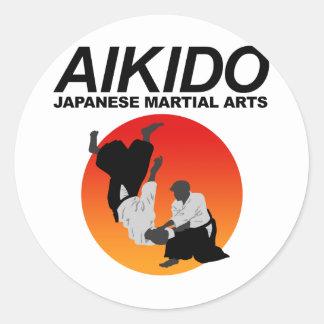Aikido 3 classic round sticker