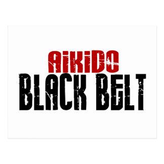 Aikido Black Belt Postcard