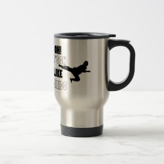 Aikido designs stainless steel travel mug