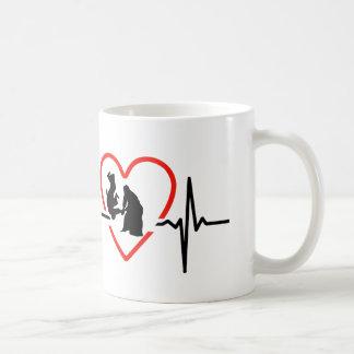 Aikido heart beat design coffee mug
