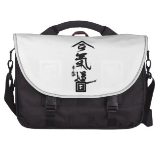 Aikido Kanji O Sensei Calligraphy Laptop Messenger Bag