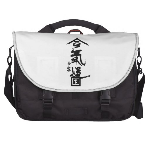 Aikido Kanji O'Sensei Calligraphy Laptop Messenger Bag