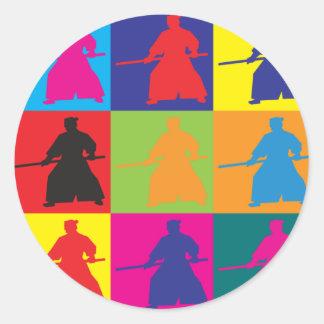 Aikido Pop Art Round Sticker