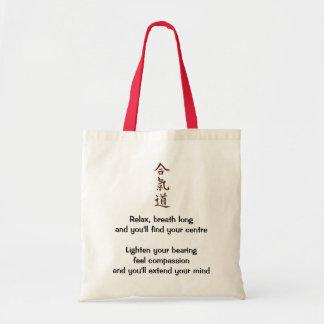 Aikido principles budget tote bag