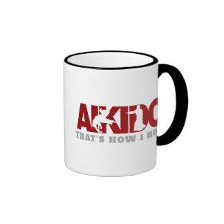 Aikido Thats How I Roll Ringer Mug