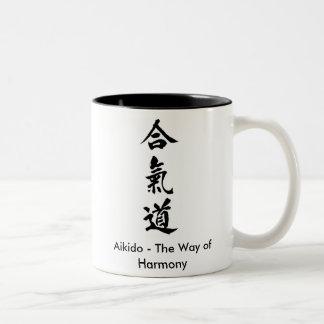 Aikido - The Way of Harmony Two-Tone Mug