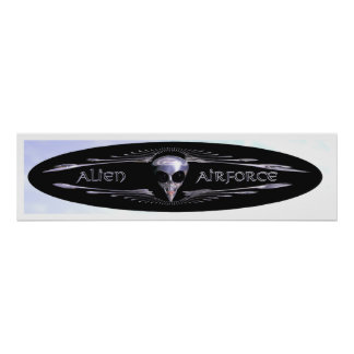 Ailien Airforce 2 Print