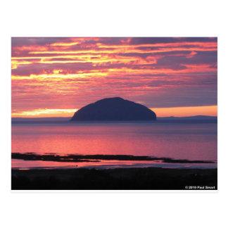 Ailsa Craig Sunset Postcard