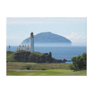 Ailsa Craig, Turnberry Lighthouse canvas print