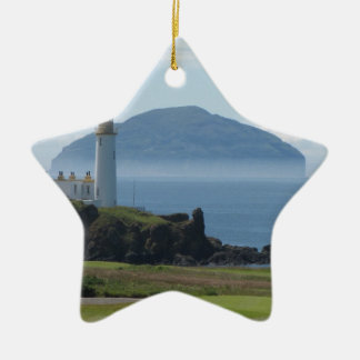 Ailsa Craig, Turnberry Lighthouse Ceramic Star Decoration