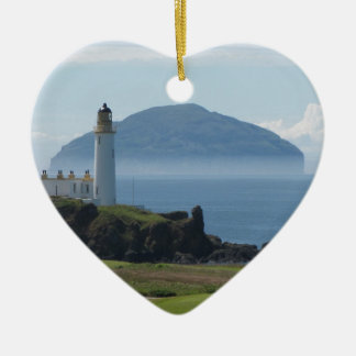 Ailsa Craig, Turnberry Lighthouse Christmas Ornament