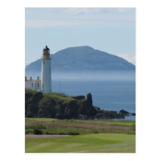 Ailsa Craig, Turnberry Lighthouse Postcard