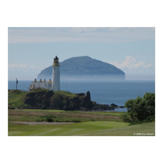 Ailsa Craig, Turnberry Lighthouse poster