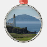 Ailsa Craig, Turnberry Lighthouse Silver-Colored Round Decoration