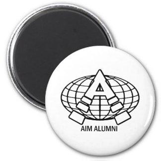 AIM ALUMNI GEAR 6 CM ROUND MAGNET