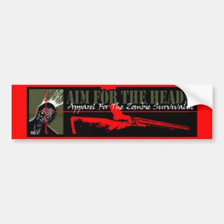 Aim For The Head! Apparel Bumper Sticker