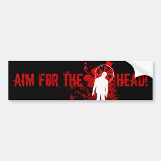 AIM FOR THE HEAD! bumpersticker Bumper Sticker