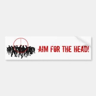 AIM FOR THE HEAD! target bumpersticker Bumper Stickers