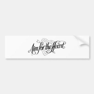 Aim For The Heart Valentine Bumper Sticker