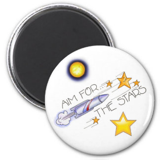 Aim  For The Stars! - Magnet 2 Inch Round Magnet