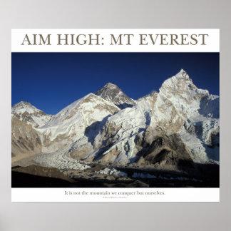 Aim High: Mt Everest Poster