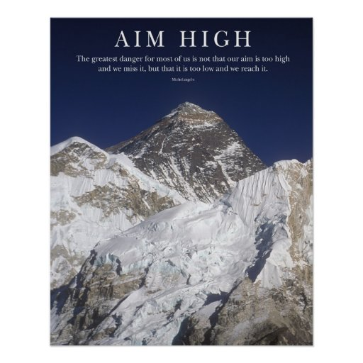 Aim High - Mt Everest Posters